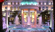 Caesars Palace Pool night shot